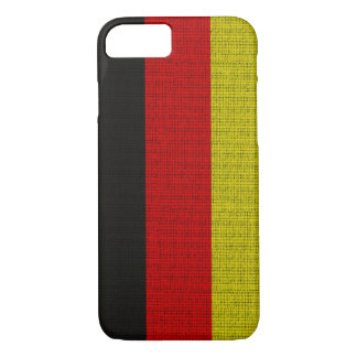 Cool trendy Germany flag burlap texture iPhone 8/7 Case