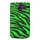 Cool Trendy Neon Lime Green Zebra Stripes Pattern Galaxy Nexus Covers