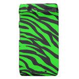 Cool Trendy Neon Lime Green Zebra Stripes Pattern Motorola Droid RAZR Cover
