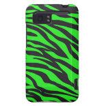 Cool Trendy Neon Lime Green Zebra Stripes Pattern HTC Vivid / Raider 4G Case