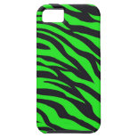 Cool Trendy Neon Lime Green Zebra Stripes Pattern iPhone 5 Cover