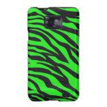 Cool Trendy Neon Lime Green Zebra Stripes Pattern Galaxy S2 Cases