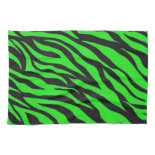 Cool Trendy Neon Lime Green Zebra Stripes Pattern Towels
