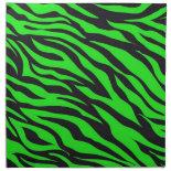 Cool Trendy Neon Lime Green Zebra Stripes Pattern Cloth Napkin