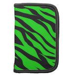 Cool Trendy Neon Lime Green Zebra Stripes Pattern Organizer
