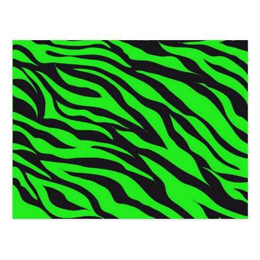 cool trendy neon lime green zebra stripes pattern postcard. Black Bedroom Furniture Sets. Home Design Ideas