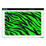 Cool Trendy Neon Lime Green Zebra Stripes Pattern Skin For 17