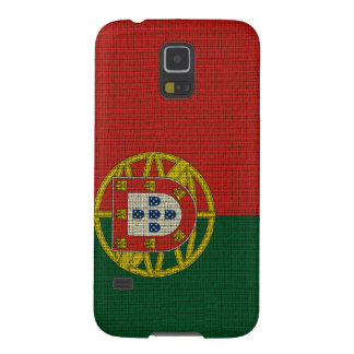 Cool trendy Portugal flag burlap texture Galaxy S5 Case