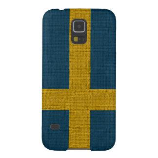 Cool trendy Sweden flag burlap Galaxy S5 Case