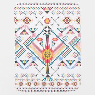 Cool trendy tribal ethnic geometric pattern swaddle blanket