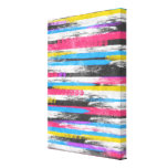 Cool trendy vibrant abstract paint stripes canvas prints