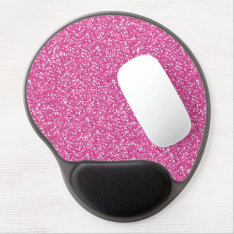 Cool Trendy Vibrant Neon Hot Pink Faux Glitter Gel Mouse Pad at Zazzle