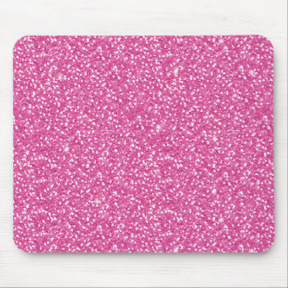 Cool trendy vibrant neon hot pink faux glitter mousepads