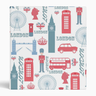Cool trendy vintage London landmark illustrations Binder