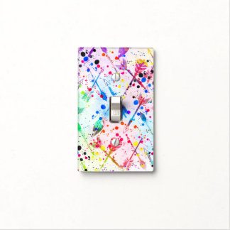 Cool trendy watercolor splatters tribal arrows light switch cover