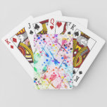 "Cool trendy watercolor splatters tribal arrows playing cards<br><div class=""desc"">Cool trendy watercolor neon splatters tribal arrows pattern, blue, pink, purple, yellow, peacock blue, teal, green, orange, grey, black white vibrant, vivid, neon colors. Tribal, ethnic, native, traditional, folk, awesome, cute, modern, art, paint, unique, fashion, whimsical, popular, illustration, abstract, blend, dreamy, design, pretty, spiritual, artistic, d&#233;cor, trend, style, beautiful image....</div>"