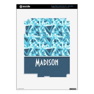 Cool Triangle; Blue iPad 3 Skins