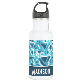 Cool Triangle; Blue Water Bottle