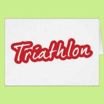 Cool Triathlon design Card