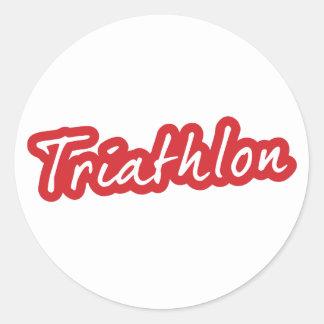 Cool Triathlon design Classic Round Sticker