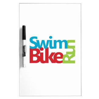 Cool Triathlon design Dry Erase Board