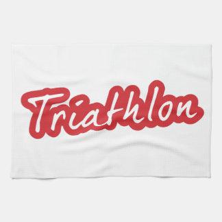 Cool Triathlon design Kitchen Towel
