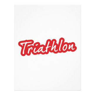Cool Triathlon design Letterhead