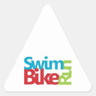 Cool Triathlon design Triangle Sticker