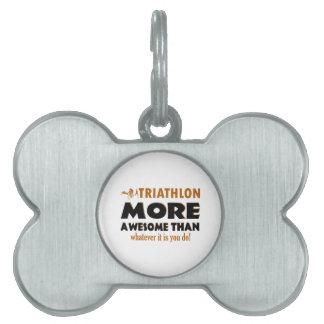 Cool Triathlon designs Pet ID Tag
