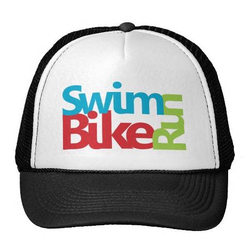 cool triathlon logo trucker hat zazzle