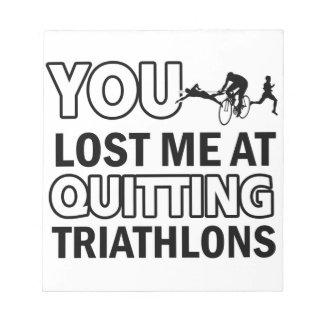 Cool triathlons designs memo notepads