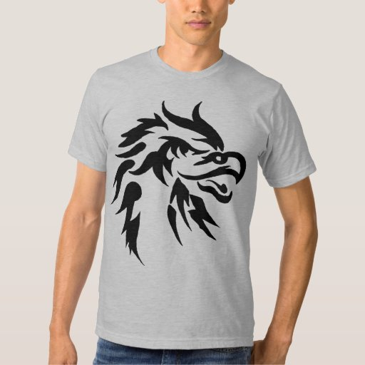 Cool tribal eagle tattoo designs urban t shirt zazzle for Tribal tattoo shirt