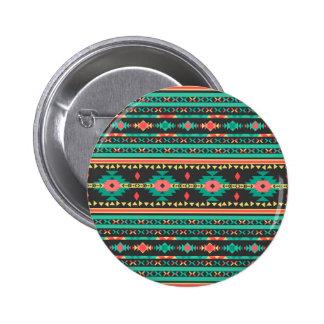 Cool tribal ethnic Navajo geometric pattern Pins