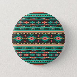 Cool tribal ethnic Navajo geometric pattern Pinback Button