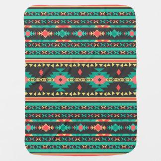 Cool tribal ethnic Navajo geometric pattern Baby Blankets