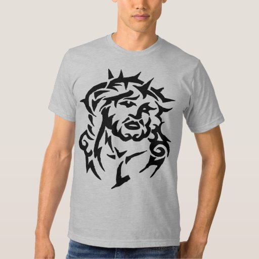 cool tribal jesus tattoo designs christian t shirt zazzle