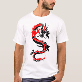 Tribal dragon t shirts shirt designs zazzle for The girl with the dragon tattoo t shirt