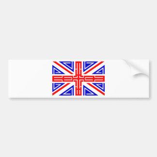 Cool Tribal tattoo British flag Bumper Sticker