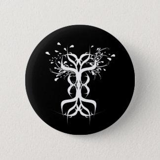Cool Tribal Tree Art Symbol Unique Branches Design Button