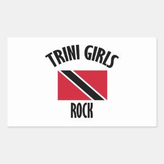 cool Trini girls DESIGNS Rectangular Sticker