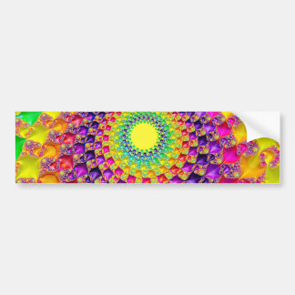 Cool Trippy Hippie Psychedelic Abstract Fractal Car Bumper Sticker