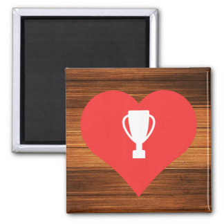 Cool Trophy Shelves Pictograph 2 Inch Square Magnet