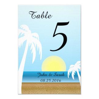 Cool Tropical Beach Theme Card