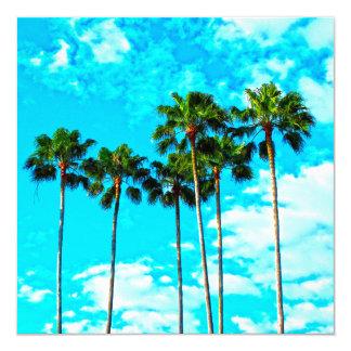 Cool Tropical Palm Trees Blue Sky Card