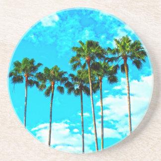 Cool Tropical Palm Trees Blue Sky Coaster