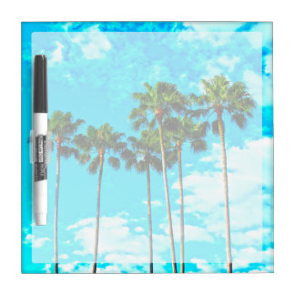 Cool Tropical Palm Trees Blue Sky Dry-Erase Board