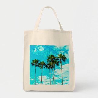 Cool Tropical Palm Trees Blue Sky Tote Bag