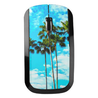 Cool Tropical Palm Trees Blue Sky Wireless Mouse