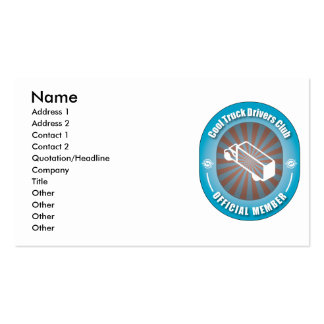 Cool Truck Drivers Club Double-Sided Standard Business Cards (Pack Of 100)