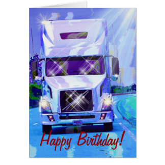 COOL TRUCK Funny Trucker Birthday Cards